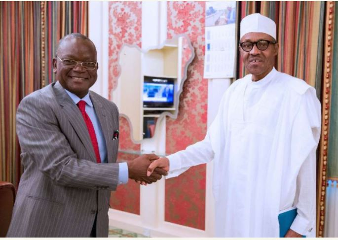 Governor Ortom and President Muhammadu Buhari