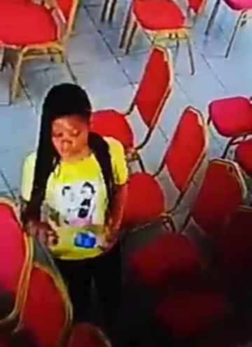 The slay queen caught stealing phone from a church in Warri