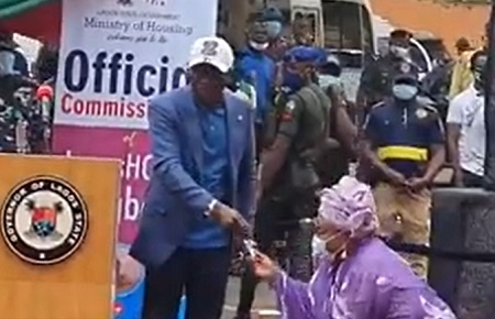 Nollywood actress, Awero receives a house from Governor Babajide Sanwo-Olu