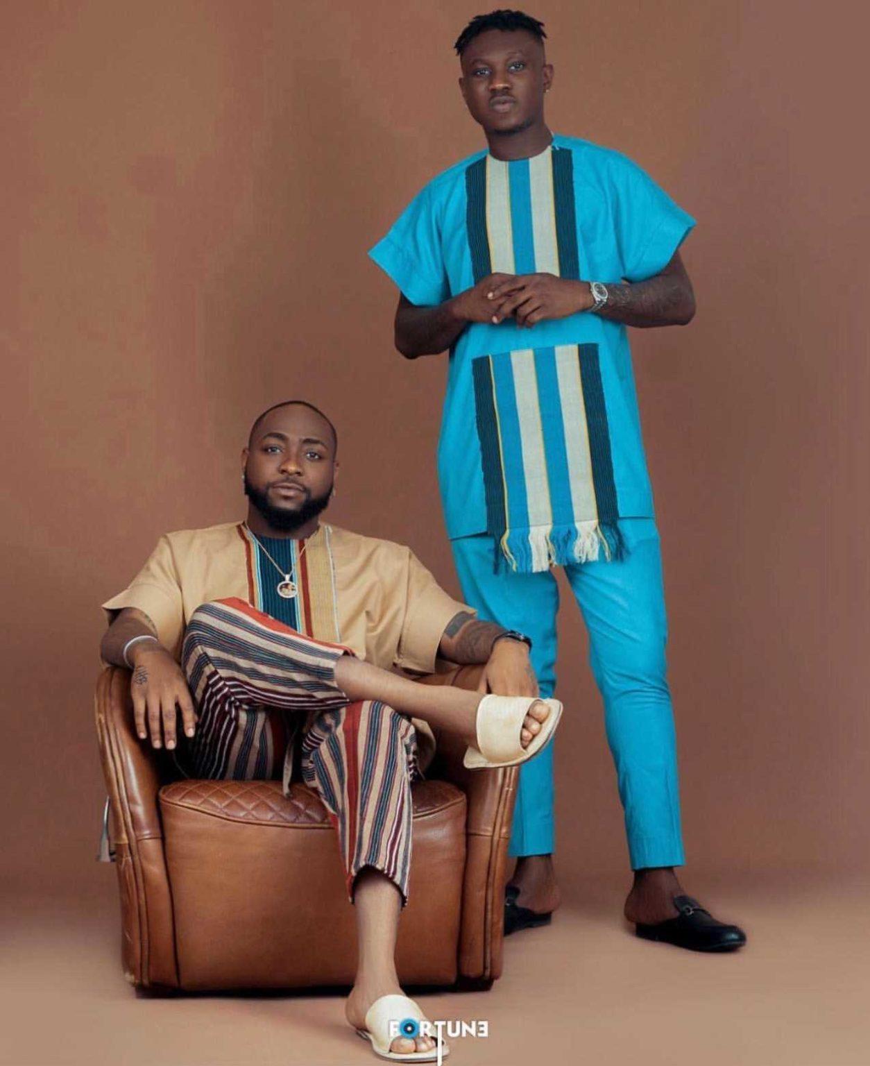 Davido and Zlatan looking dapper in African attire