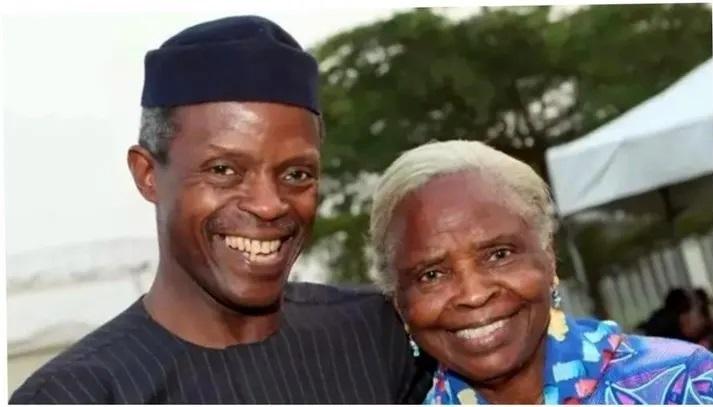 Olubisi and son, Yemi Osinbajo