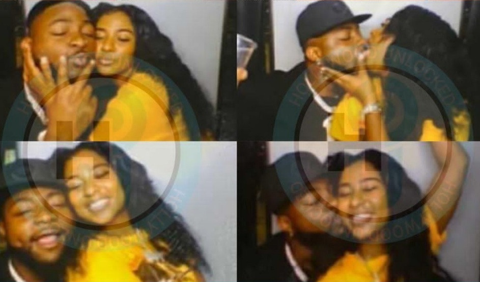Davido and new bae kissing vigorously