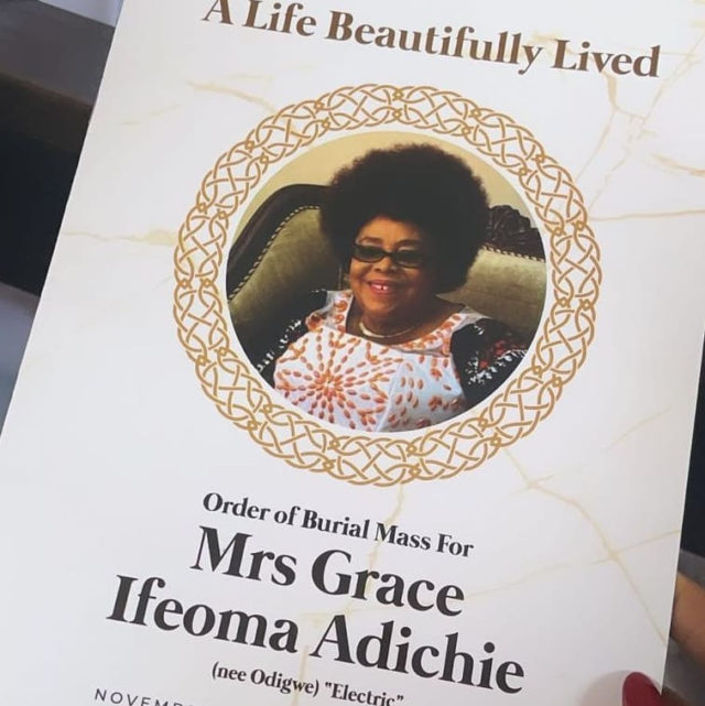 Grace Adichie buried