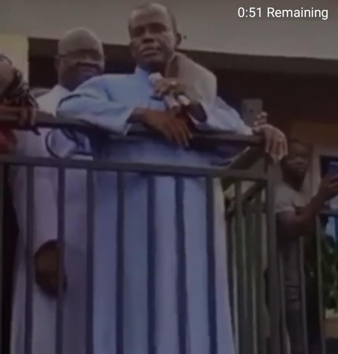 Mbaka addressing crowd of sympathisers