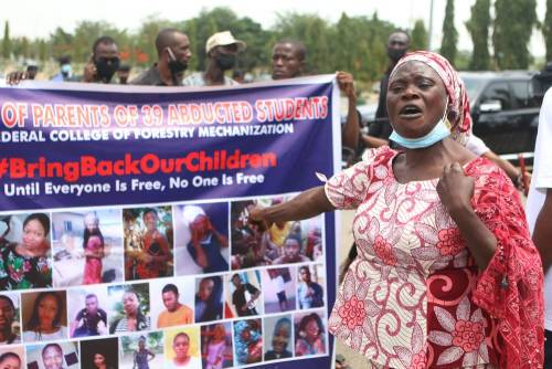 Parents of recently released students of Federal College of Forestry Mechanisation, Afaka