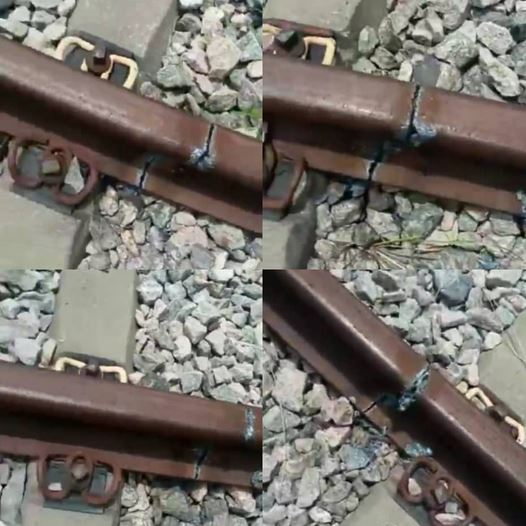 Vandals Destroy Rail Tracks