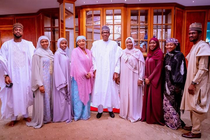 Buhari and family observe Eid-El-Filtri celebrations