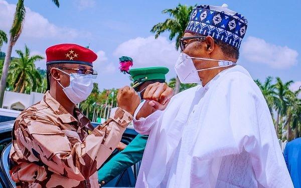 Buhari and Lt. General Mahamat Idriss Deby Itno