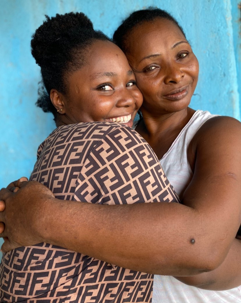 Ojong reunites with her mother