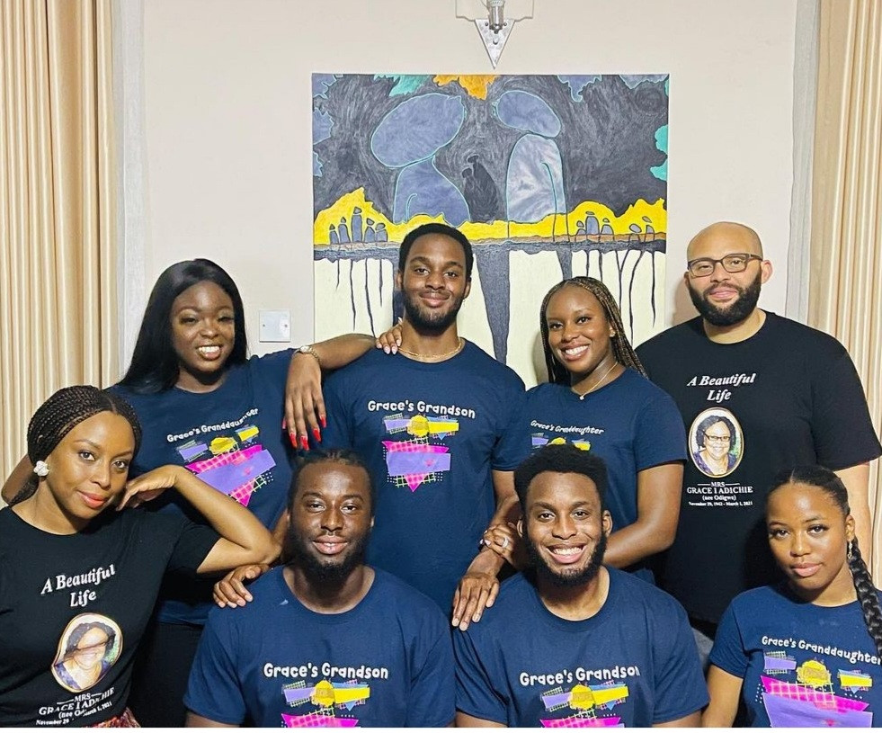 Chimamanda and her nieces and nephews