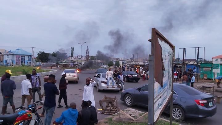 Yahoo boys protest in Osogbo