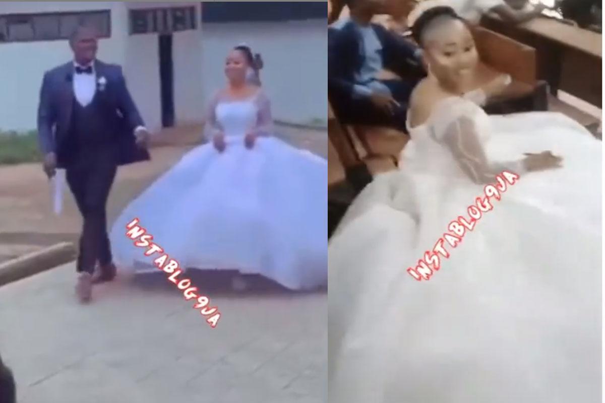 Bride writes exams