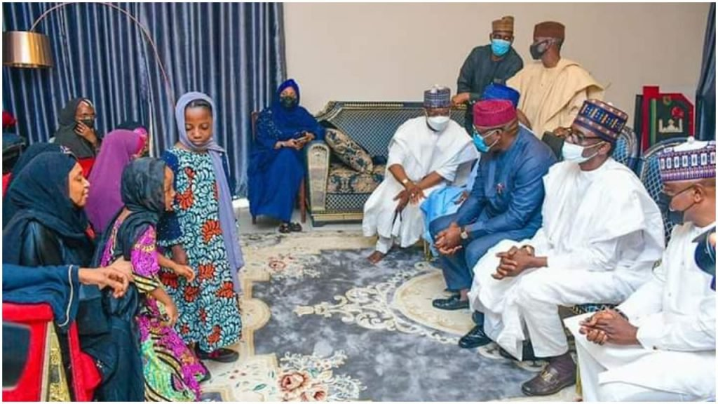 Buni and others pay visit to late Chief of Army Staff, Lt. Gen. Ibrahim Attahiru's family