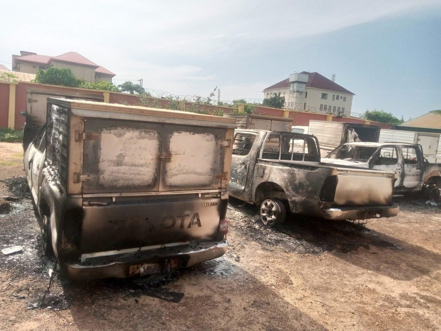 Inec office burnt by gunmen