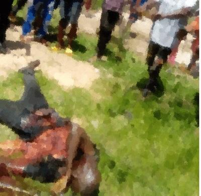 The dead suicide bomber in Ebonyi
