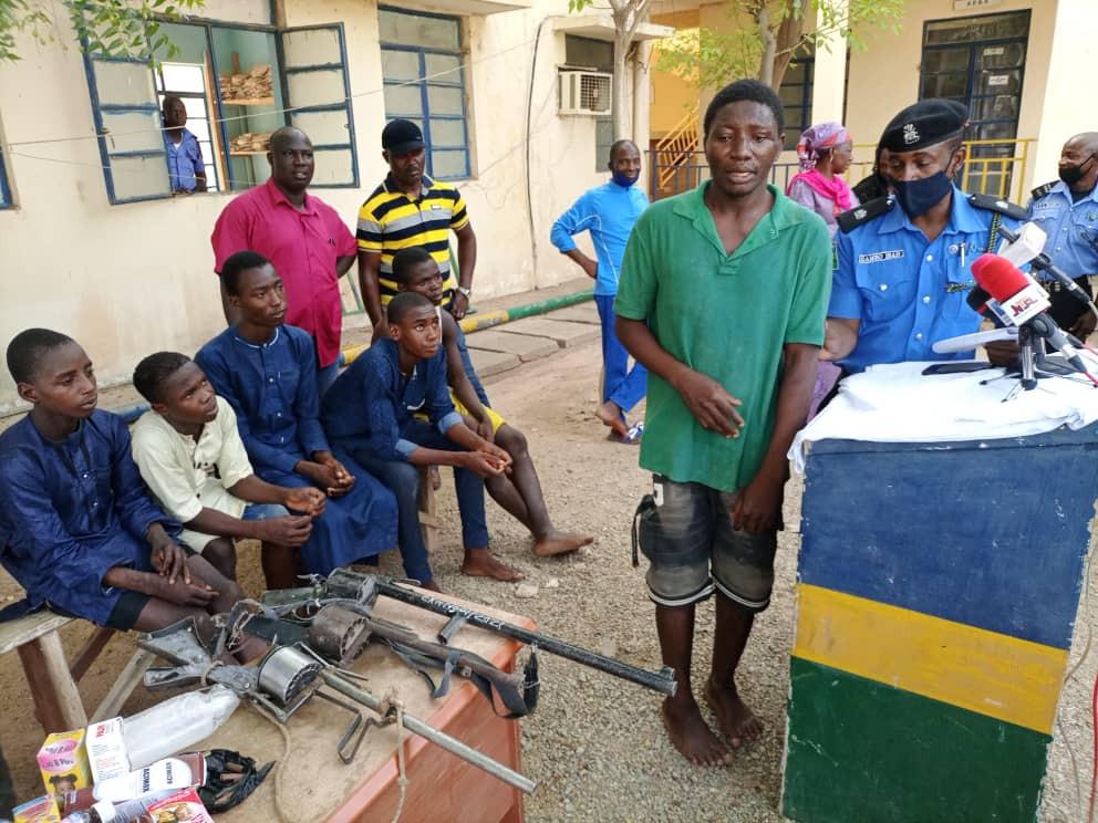 Shamsudin after being arrested