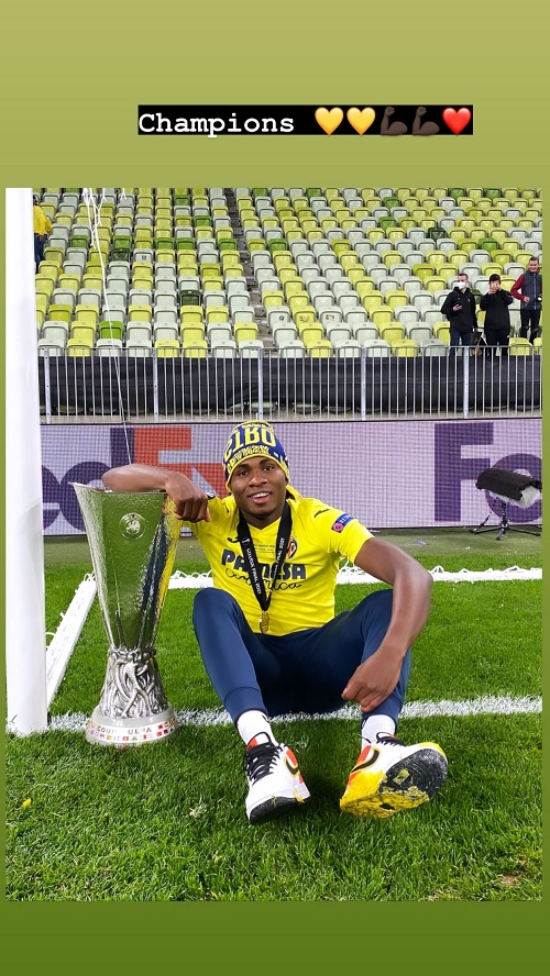 Chukwueze wins Europa Cup with Villareal