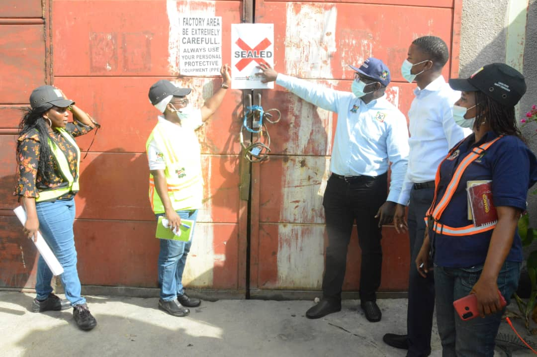 Chinese factory sealed by Lagos government