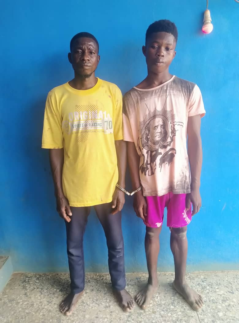 The two kidnappers after they were arrested