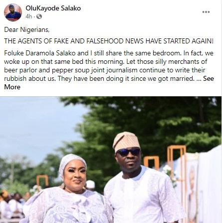 Actress Foluke Daramola's Husband Reacts to Divorce Rumours