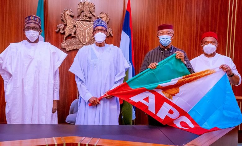 Dr. Nkem presented to President Muhammadu Buhari
