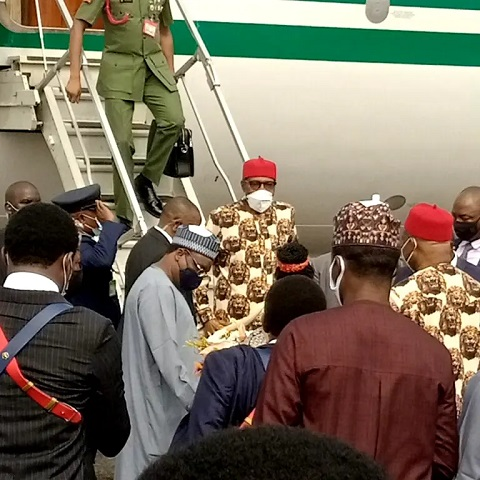 Buhari lands in Imo state