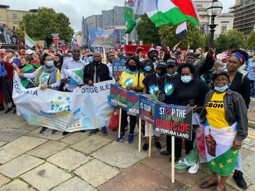 The Yoruba nation agitators in London