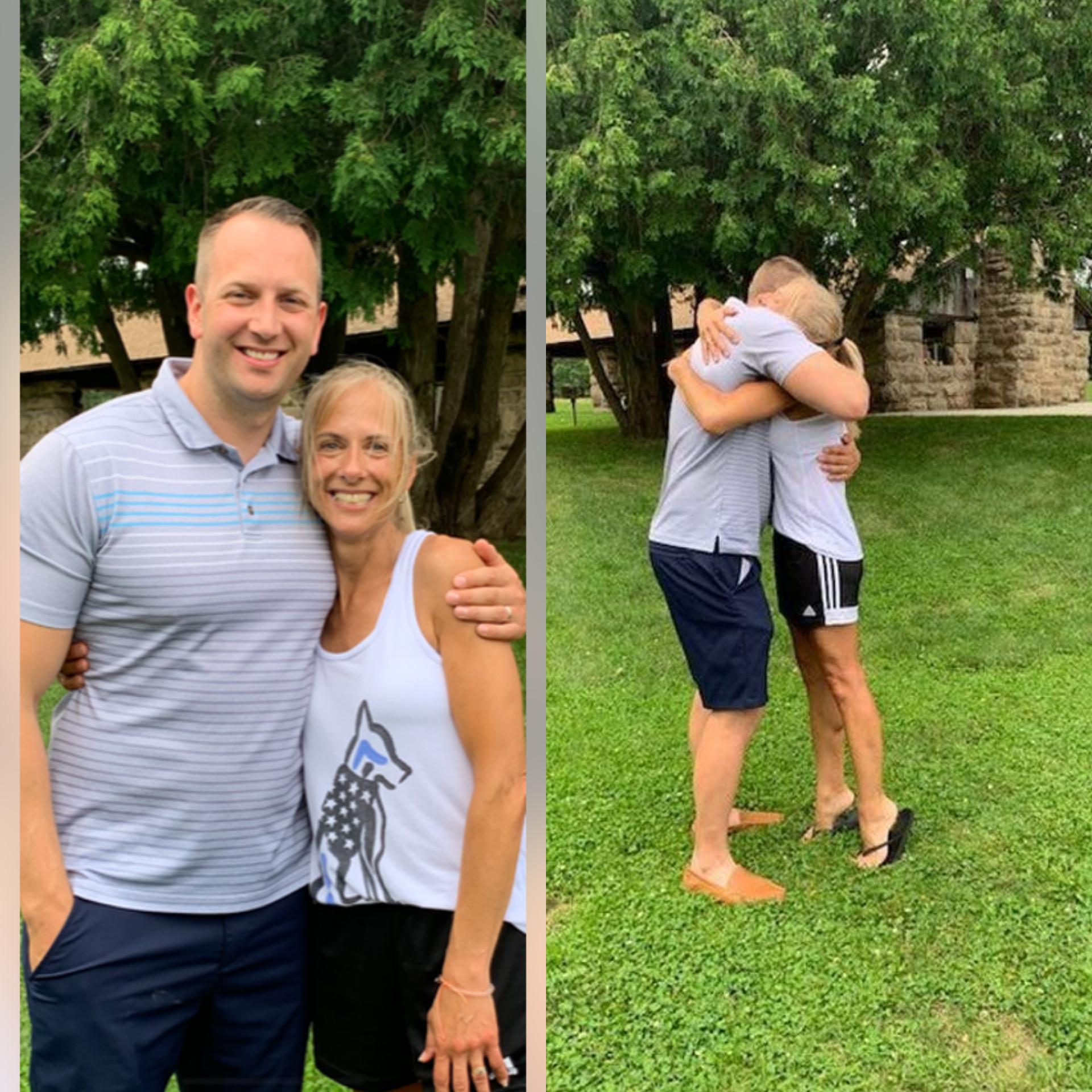 Pressley reunites with mother