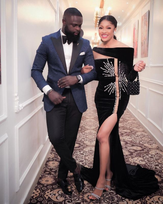 Yomi Casual and wife, Grace