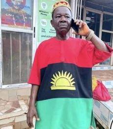Chinwetalu Agu rocking Biafra theme-dressed