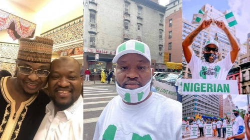A pro-government protester spotted in an old photo, posing with Buhari's minister Isa Pantami