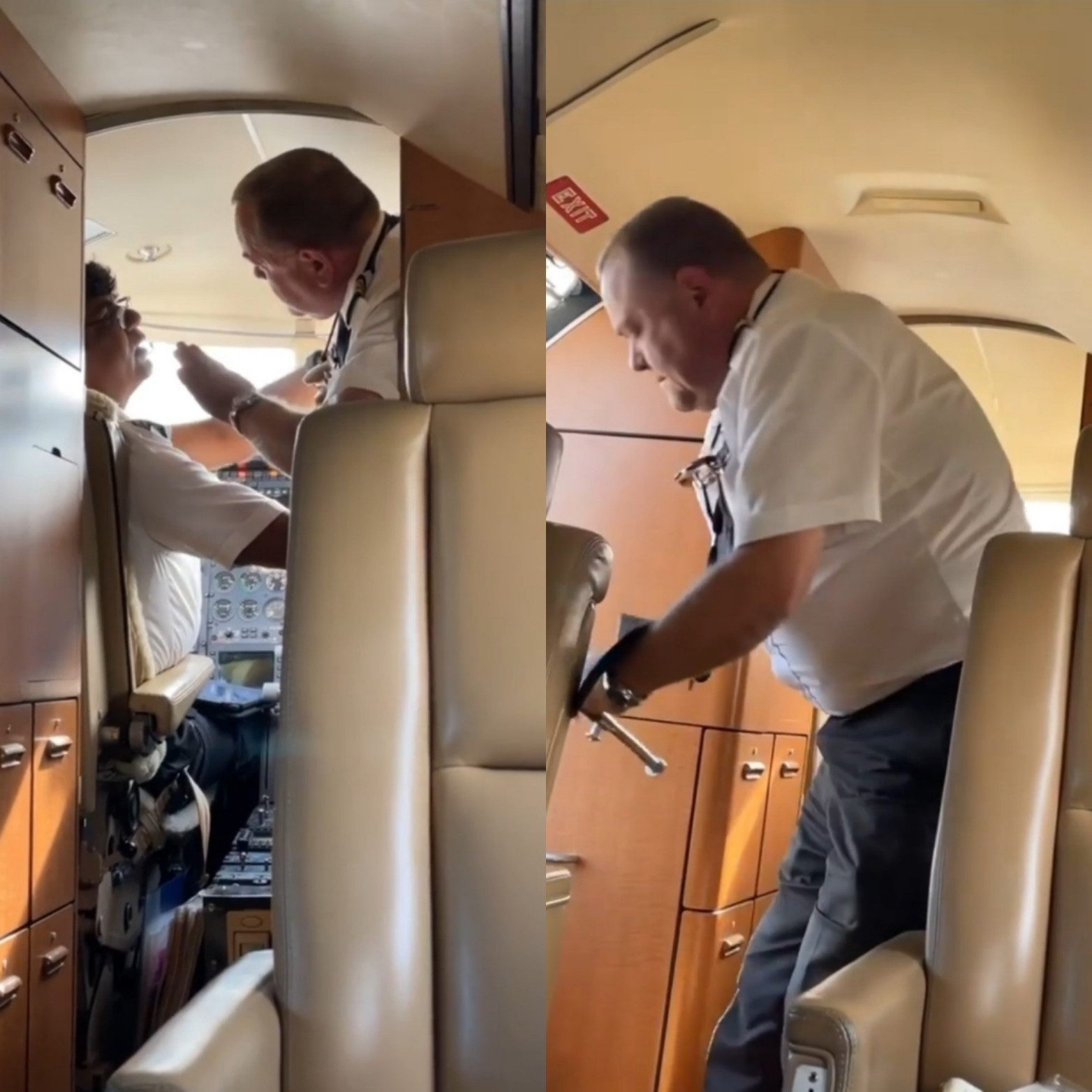 Co-pilot storms out of the plane after argument