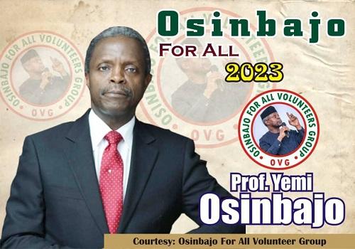 Osinbajo presidential poster