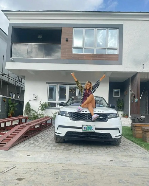Mercy Eke shows off her latest mansion