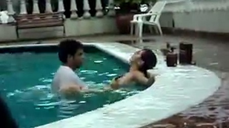 Shocking moment randy couple are caught having s x in a - How long after you shock a pool can you swim ...