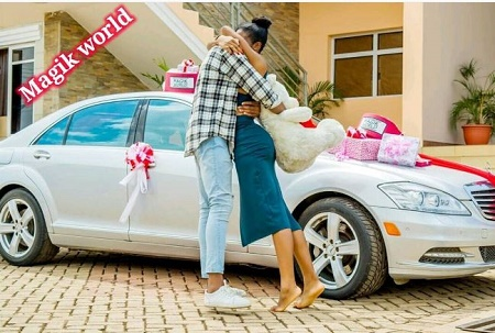 The Nigerian Man Hugs His Girlfriend After Gifting Her A Surprise Car Gift