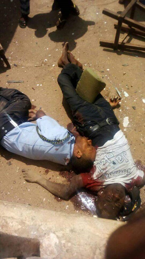 Graphic Photos of Two People Brutally Killed During Bank ...