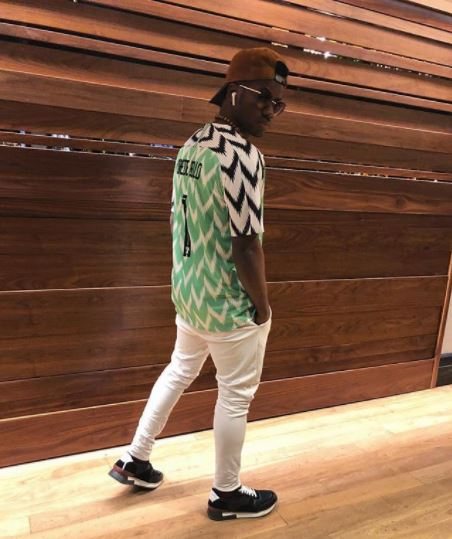 d32cc21fe34 Korede Bello. Korede Bello has stunned in a new photo he shared online  which showed him rocking the new Super Eagles jersey. And