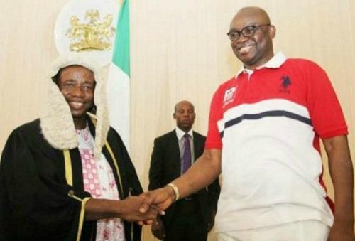 Image result for Ekiti Assembly impeaches speaker Oluwawole, elects Alagbada