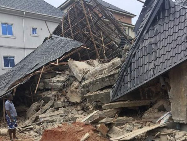 Image result for Anambra building collapse: One person confirmed dead, nine rescued