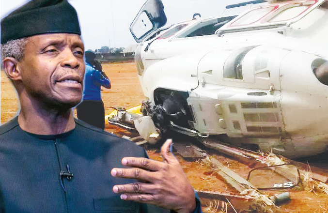 Image result for VIDEO: Osinbajo testifies in church after surviving helicopter crash