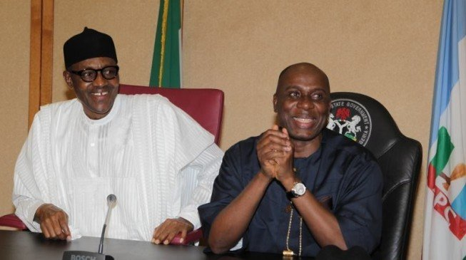 Image result for Amaechi and Buhari