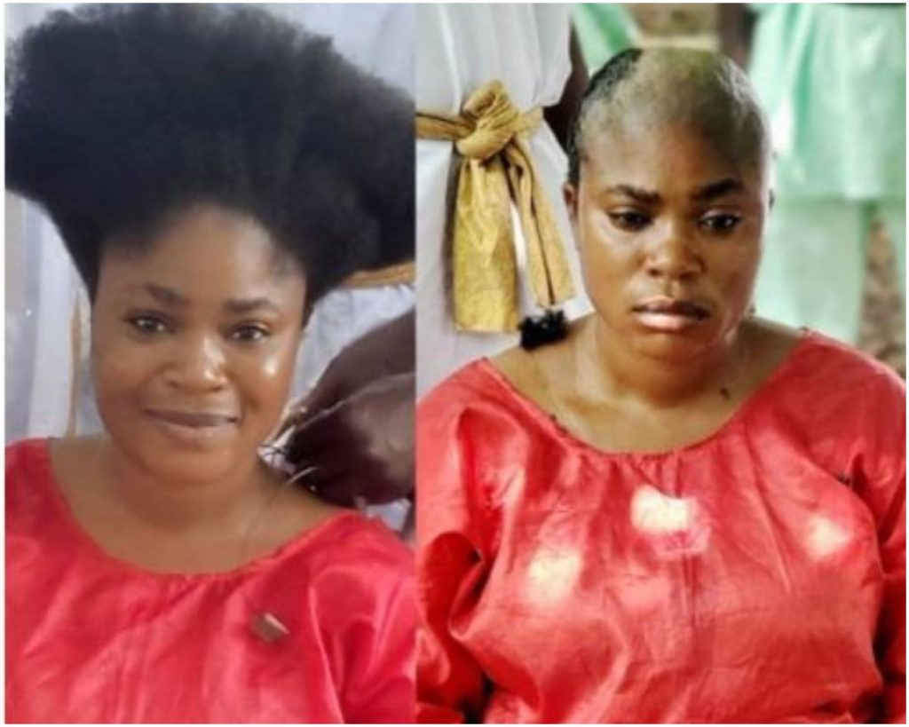 Nollywood Actress, Eniola Ajao Goes Completely Bald For A Movie Role (Photo)